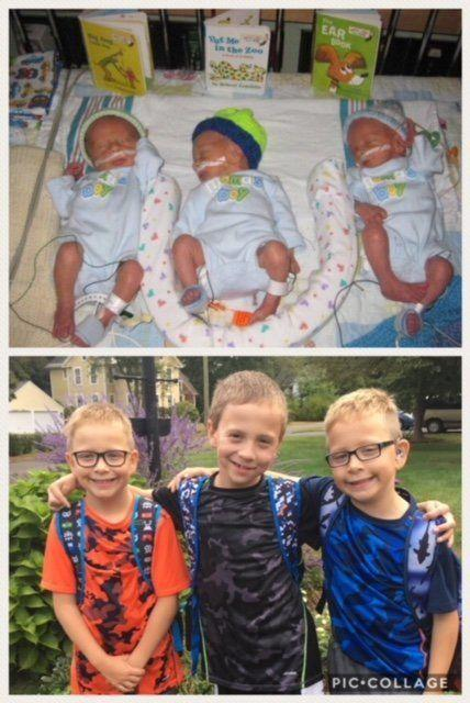 My preemies were born at 31 weeks, five days in 2009 -- triplet boys. Today, they are healthy, very active 8-year-olds. We were very blessed!<br /><br /><i>-- Laura Westman</i>