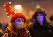 Protest against the verdict restricting abortion rights in Warsaw
