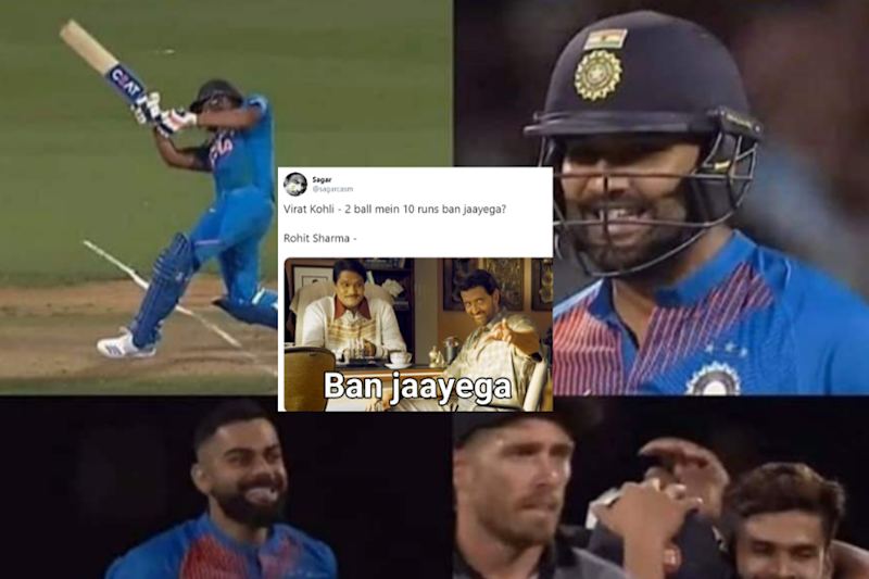 Rohit Sharma Fans Go Berserk as Hitman Smashes Consecutive Sixes to Hand NZ Another Super Over Loss