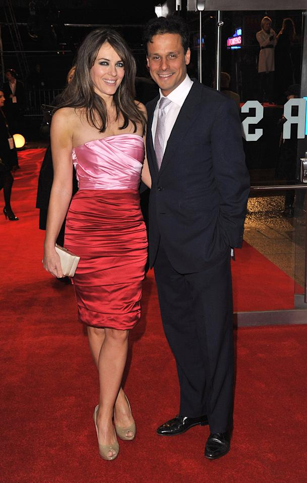 "<a href=""http://movies.yahoo.com/movie/contributor/1800018909"">Elizabeth Hurley</a> and Arun Nayar at the London premiere of <a href=""http://movies.yahoo.com/movie/1810079689/info"">Did You Hear About the Morgans?</a> - 12/08/2009"
