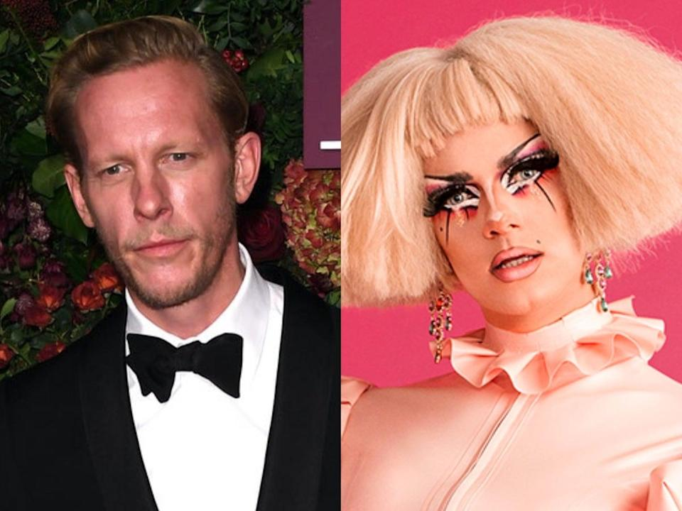 Laurence Fox is being sued by RuPaul's Drag Race UK star Crystal (Getty/BBC)