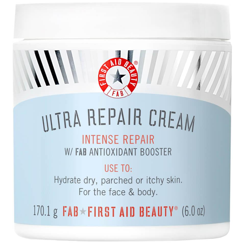 "<h3>First Aid Beauty Ultra Repair Cream</h3><br>Soothe dry, irritated skin with this bestselling moisturizer, which is currently 25% off at LookFantastic.<br><br><strong>First Aid Beauty</strong> Ultra Repair Cream (6 oz.), $, available at <a href=""https://go.skimresources.com/?id=30283X879131&url=https%3A%2F%2Ffave.co%2F3a4baNH"" rel=""nofollow noopener"" target=""_blank"" data-ylk=""slk:LookFantastic"" class=""link rapid-noclick-resp"">LookFantastic</a>"