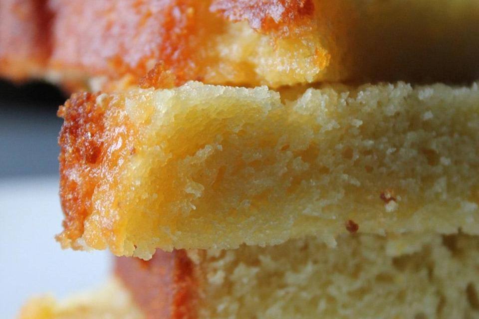 """This orange olive oil cake is so tasty that you'll find yourself baking it again and again. This simple cake recipe yields the moistest, richest, most flavorful pound cake you'll ever make. <a href=""""https://www.epicurious.com/recipes/food/views/orange-olive-oil-pound-cake-51253040?mbid=synd_yahoo_rss"""" rel=""""nofollow noopener"""" target=""""_blank"""" data-ylk=""""slk:See recipe."""" class=""""link rapid-noclick-resp"""">See recipe.</a>"""