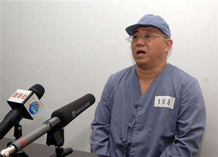Kenneth Bae, a Korean-American Christian missionary who has been detained in North Korea for more than a year, appears before a limited number of media outlets in Pyongyang in this undated photo released by North Korea's Korean Central News Agency (KCNA) on January 20, 2014. REUTERS/KCNA/Files