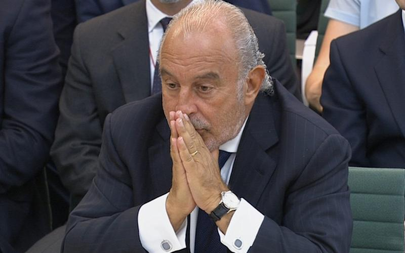 Retailer Philip Green speaks before Parliament's business select committee on the collapse of British Home Stores  - Credit: HANDOUT