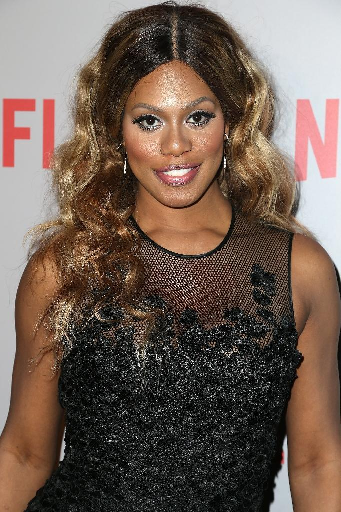 Laverne Cox became the first transgender woman to score an Emmy nomination -- and to land on the cover of Time magazine -- for her role as a jailed transgender credit-card fraudster in the Netflix series 'Orange is the New Black' (AFP Photo/Frederick M. Brown)