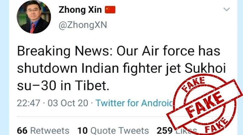 IAF Sukhoi Su-30 Fighter Jet Was Not Shot Down by China's PLA in Tibet; PIB Debunks Fake News