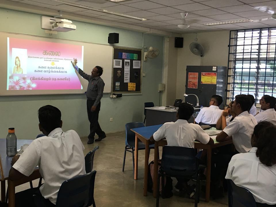 The Tamil Language Elective Programme will be taught at junior college level at Anderson Serangoon JC from next year. (PHOTO: Chia Han Keong/Yahoo News Singapore)