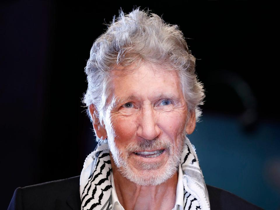 Roger waters, black background