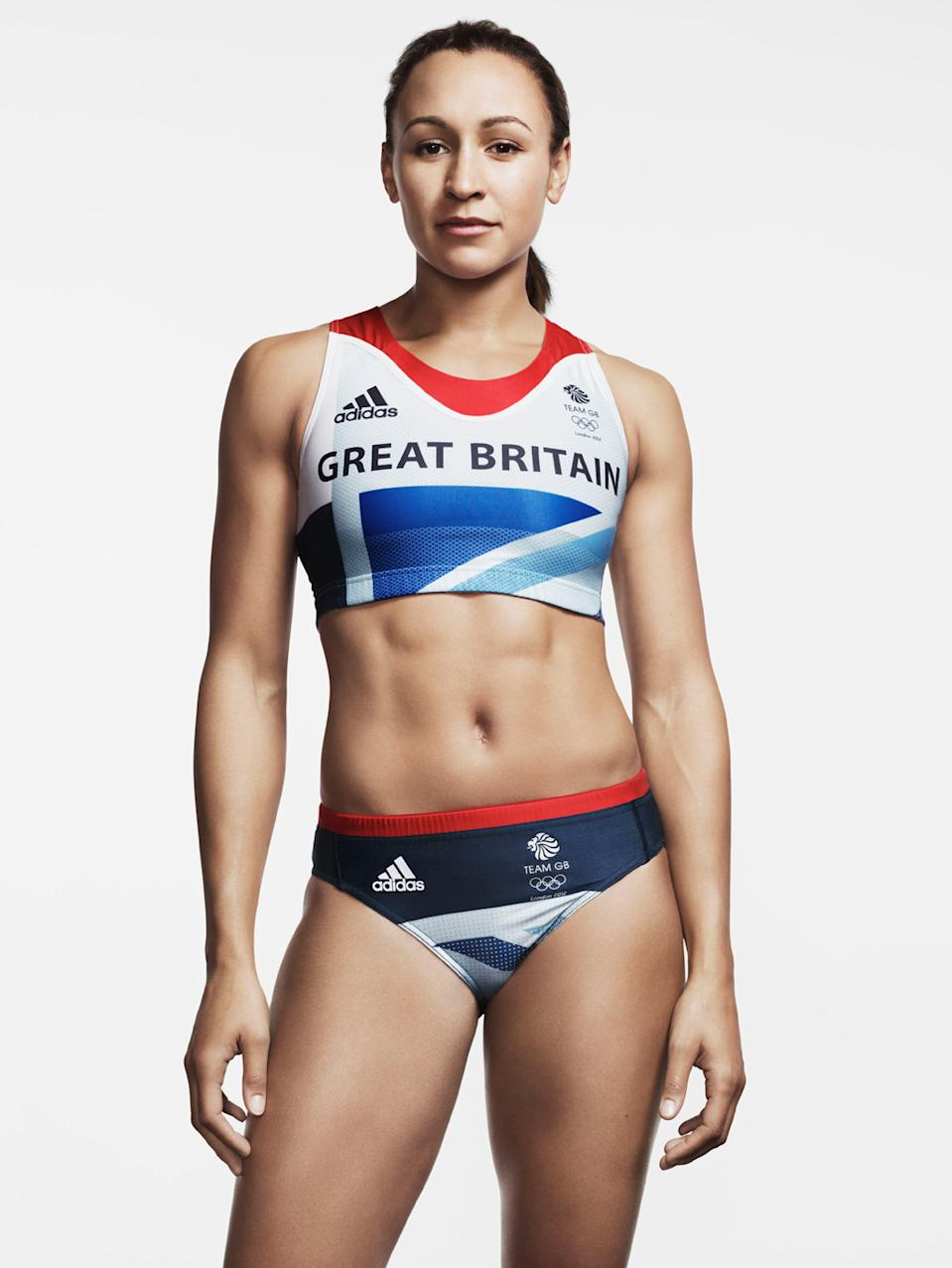 """<b>Jessica Ennis</b><br> Nicknamed the """"golden girl"""" of British athletics, world heptathlon champion Jessica Ennis's flawless physique has already earned her a small fortune from sponsorship deals with Powerade, BP, Adidas and Olay. (Photo by adidas via Getty Images)"""
