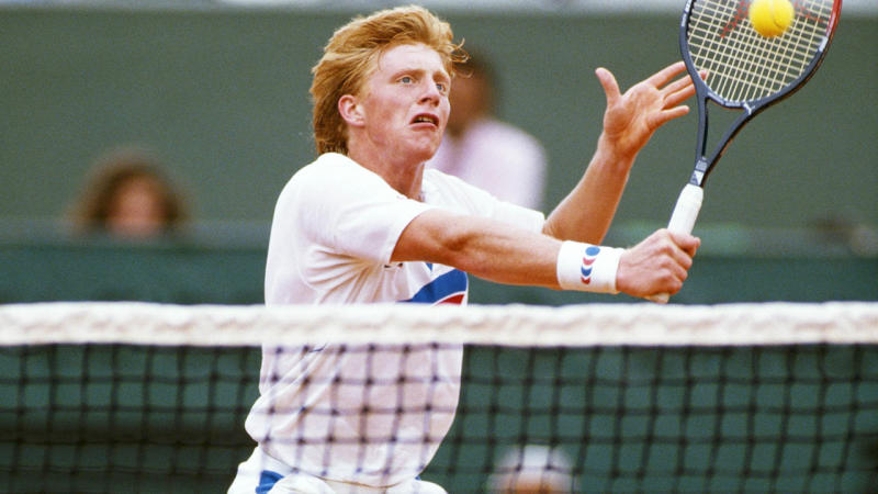 Boris Becker in 1987. (Photo by Simon Bruty/Getty Images)