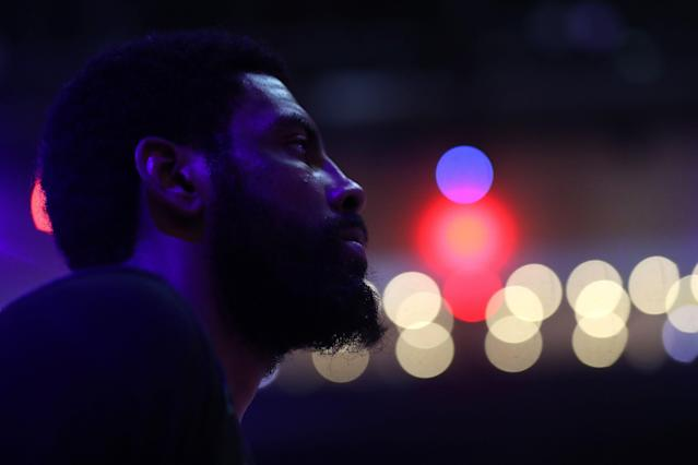 "Most everyone has <a class=""link rapid-noclick-resp"" href=""/nba/players/4840/"" data-ylk=""slk:Kyrie Irving"">Kyrie Irving</a> going everywhere but back to the <a class=""link rapid-noclick-resp"" href=""/nba/teams/boston/"" data-ylk=""slk:Boston Celtics"">Boston Celtics</a>. (Getty Images)"