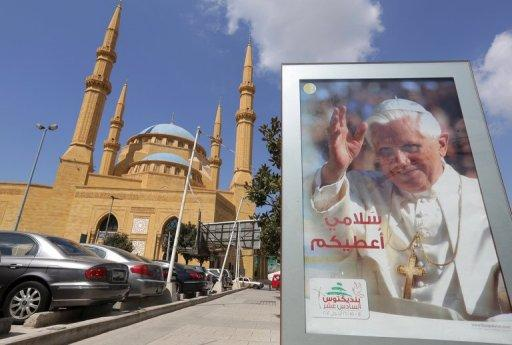 Pope Benedict XVI is due to visit Lebanon in the coming days