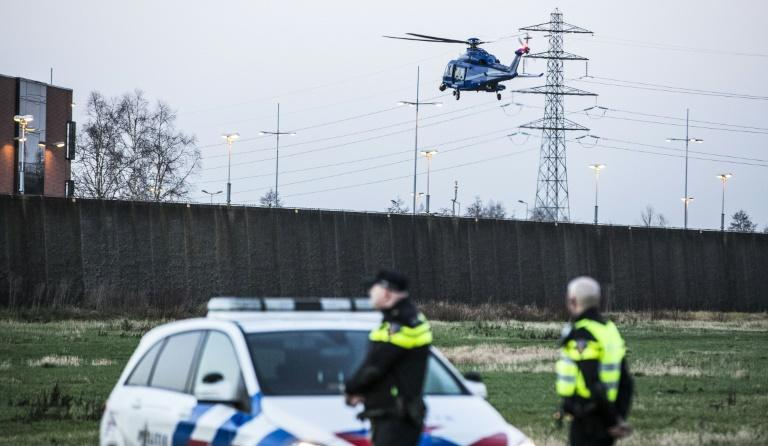 The search involved Dutch detectives, the Dutch border police and the German police, backed by a police helicopter