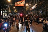 Protesters took to the streets of Lebanon in defiance of a coronavirus lockdown