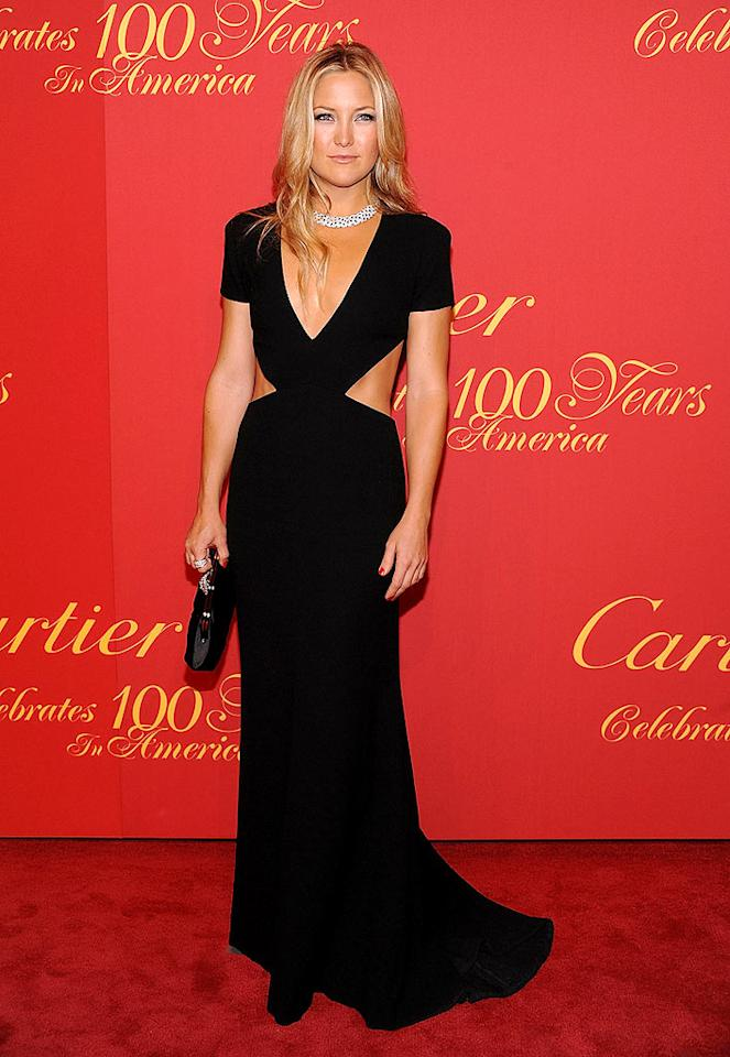"Kate Hudson showed off her awesome abs at Cartier's 100th anniversary celebration in a floor-length Rachel Roy cut-out dress, which she perfectly paired with a divine diamond and onyx necklace. Dimitrios Kambouris/<a href=""http://www.wireimage.com"" target=""new"">WireImage.com</a> - April 30, 2009"