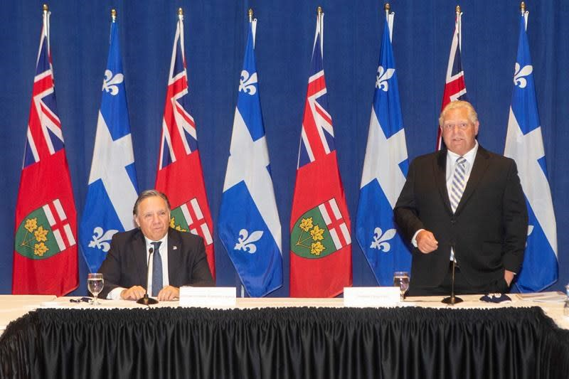 Legault, Ford call on Ottawa to increase health transfers to provinces