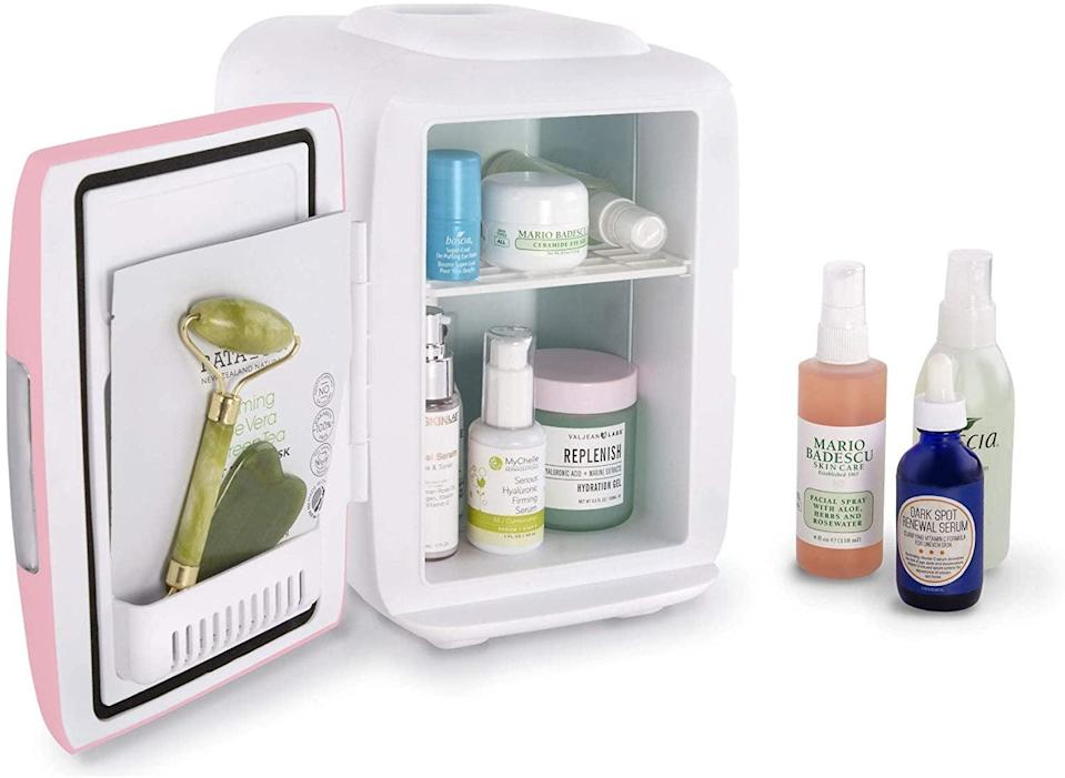 <p>If you are a skin-care fan and love to give yourself spa days, the <span>Cooluli Skincare Mini Fridge</span> ($50) is something you'll want to indulge in. You can store your vitamin C serums, sheet masks, facial massaging tools, and toners to give them an extra cooling feel.</p>