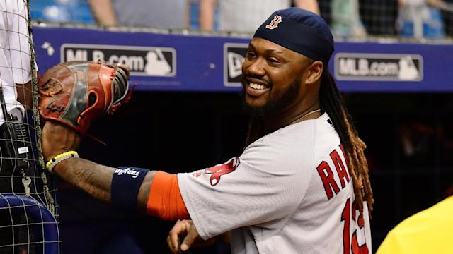 The Boston Red Sox have designated Hanley Ramirez for assignment in order to make room on the roster for the return of Dustin Pedroia from the disabled list.