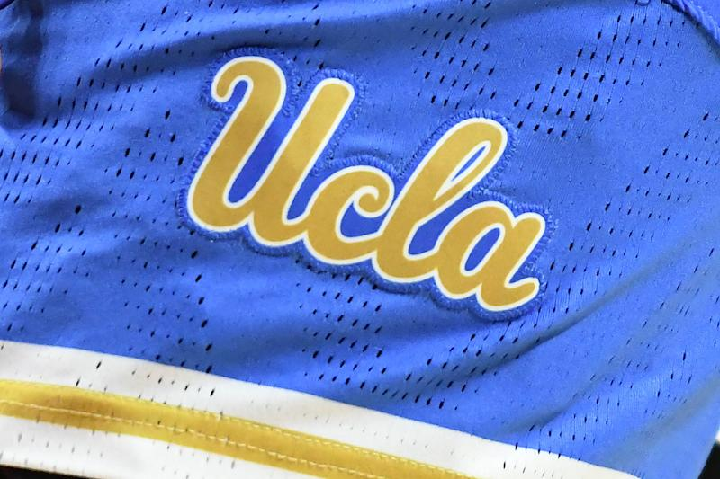 COLLEGE PARK, MD - MARCH 25: The UCLA Bruins logo on a pair of shorts during a NCAA Women's Basketball Tournament - Second Round game against the Maryland Terrapins at the Xfinity Center Center on March 25, 2019 in College Park, Maryland. (Photo by Mitchell Layton/Getty Images)