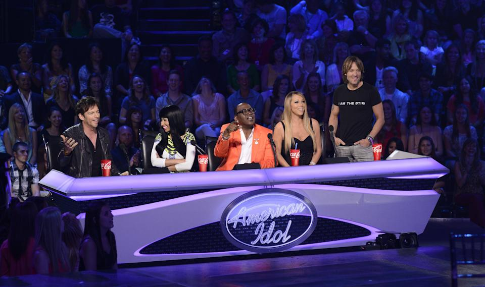 """Dannii and Sharon's beef was positively small-fry compared to the almighty clash that was Nicki Minaj and Mariah Carey during their time series together on 'American Idol'.<br /><br />The story goes that Mariah had been told she'd be the only woman on the panel, so was unpleasantly surprised when Nicki was later confirmed as a judge.<br /><br />The two then repeatedly rubbed each other up the wrong way, and it culminated in the details of an onset argument being leaked online, during which Nicki apparently said: """"I'm not fucking putting up with her fucking highness over there.""""<br /><br />Although they managed to play nice (nice enough, at least) in the live shows, Nicki later referenced the beef in one of her songs, to which Mariah infamously sighed in a Barbara Walters interview: """"I don't know [if she's singing about me], I didn't know she sang, I thought she rapped or whatever."""""""