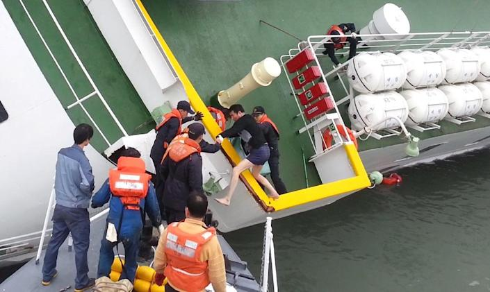 More than 300 people were killed when the Sewol ferry sank off the coast of South Korea in 2014 (AFP Photo/Korea Coast Guard)
