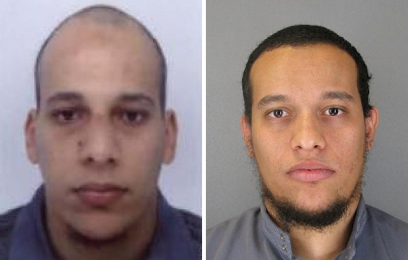 Handout photos released by French Police in Paris on January 8, 2015, shows satirical weekly Charlie Hebdo attackers Cherif Kouachi (L) and Said Kouachi (AFP Photo/)