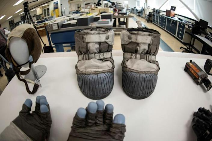Moon boot material developed by NASA has also been transferred to athletic footwear to improve shock absorption and endurance under stress (AFP Photo/Eric BARADAT)