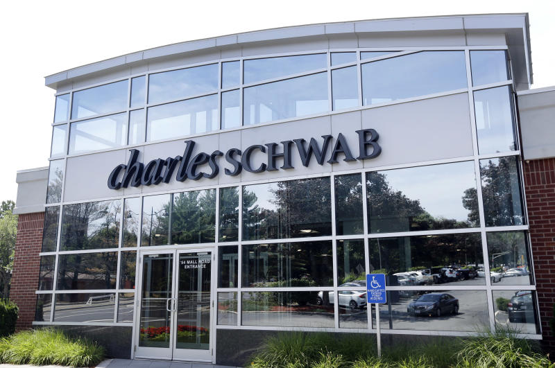 A branch of Charles Schwab in Burlington, Mass. (AP Photo/Elise Amendola)