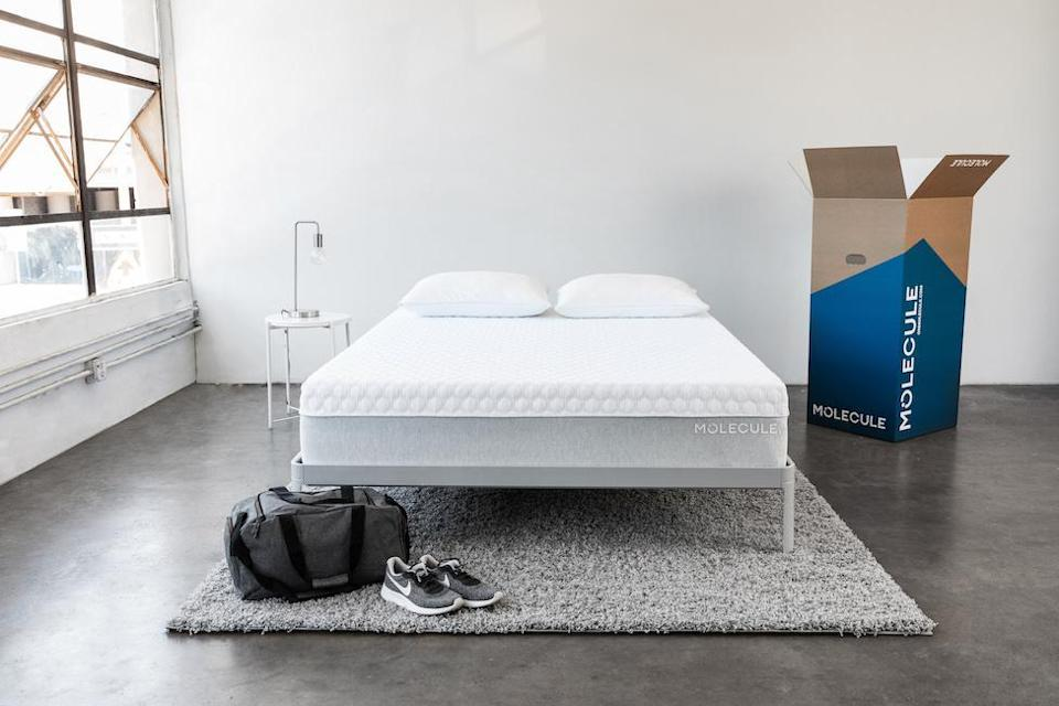 """<h3>Molecule</h3><br><strong>Dates:</strong> 11/22<br><strong>Deal: </strong>Save up to 40% off sitewide + free sheets with any size mattress<br><strong>Promo Code: </strong>SAVEMORE<br><br><em>Shop <strong><a href=""""https://www.onmolecule.com/"""" rel=""""nofollow noopener"""" target=""""_blank"""" data-ylk=""""slk:Molecule"""" class=""""link rapid-noclick-resp"""">Molecule</a></strong></em><br><br><strong>Molecule</strong> Molecule 1 Mattress, $, available at <a href=""""https://go.skimresources.com/?id=30283X879131&url=https%3A%2F%2Fwww.onmolecule.com%2Fproducts%2Fmolecule-1-mattress"""" rel=""""nofollow noopener"""" target=""""_blank"""" data-ylk=""""slk:Molecule"""" class=""""link rapid-noclick-resp"""">Molecule</a>"""