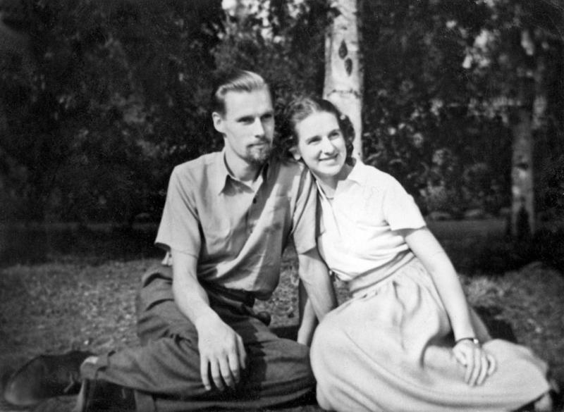 George Martin with his first wife Sheena (Courtesy of the Martin family)
