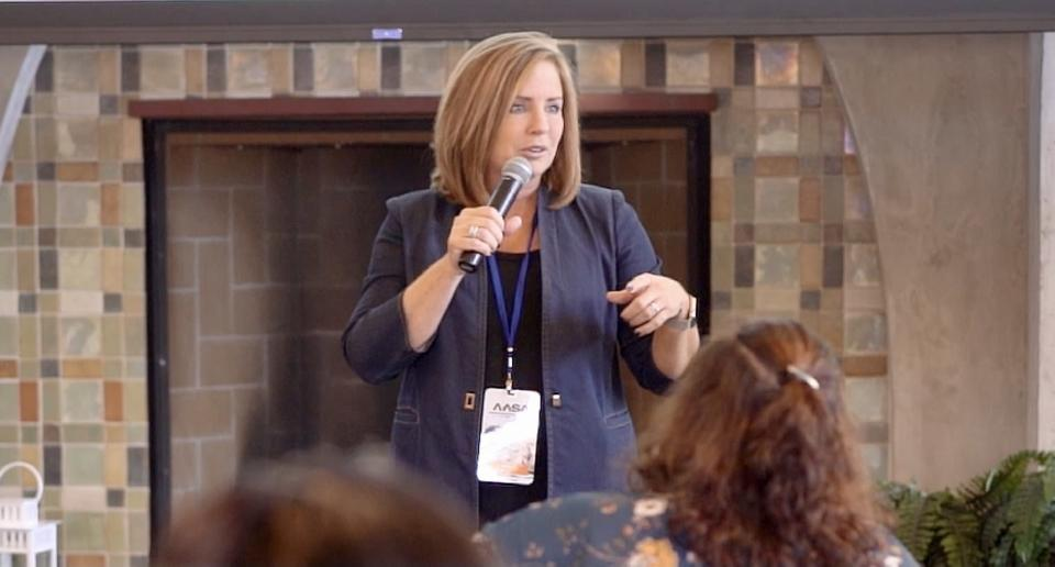 Fallbrook Union Elementary School District Superintendent Candace Singh spoke to an AASA Aspiring Superintendent Academy for Female Leaders in 2019. (Fallbrook Union Elementary School District)