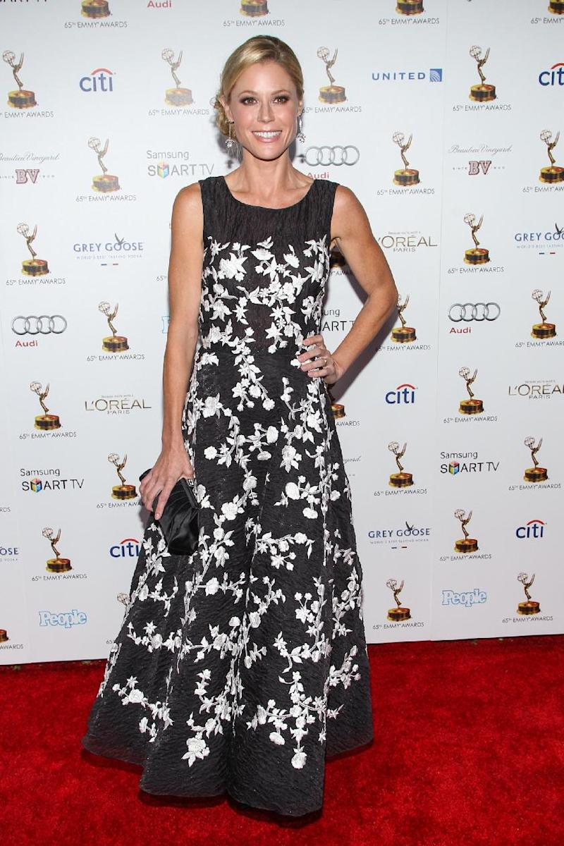 Actress Julie Bowen arrives at the 65th Primetime Emmy Awards Performers Nominee Reception at the Pacific Design Center on Friday, Sept. 20, 2013 in Los Angeles. (Photo by Paul A. Hebert/Invision/AP)