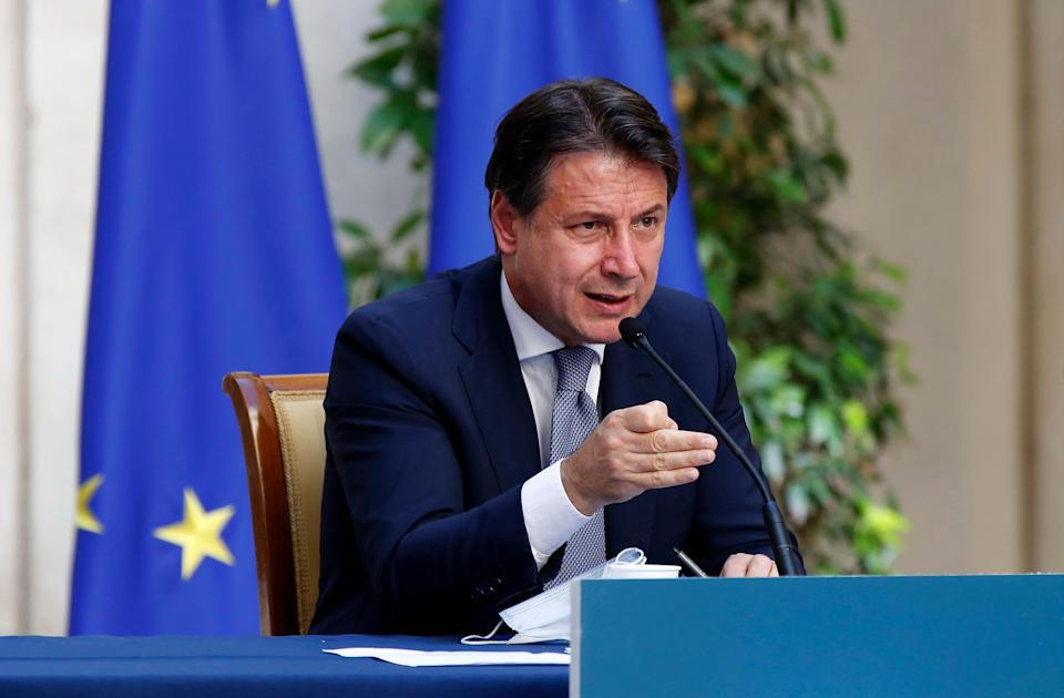 Prime Minister Giuseppe Conte during the press conference on anti Covid measures for the reopening of the school year 2020 - 2021. Palazzo Chigi. Rome (Italy), September 9th, 2020 (Photo by Massimo Di Vita/Archivio Massimo Di Vita/Mondadori Portfolio via Getty Images) (Photo: Mondadori Portfolio via Getty Images)