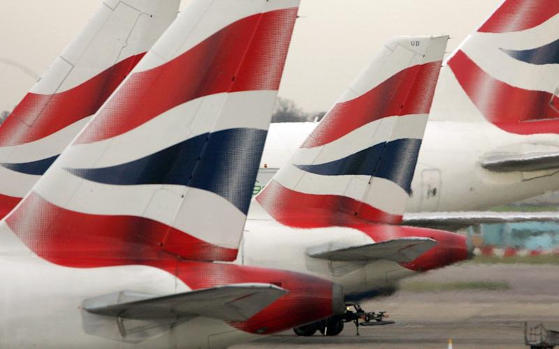 British Airways' aircraft parked at Terminal One of Heathrow Airport - Tim Ockenden/PA