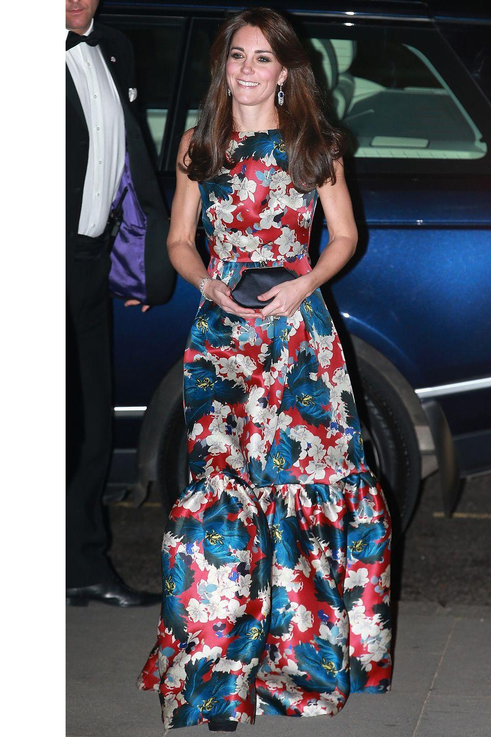 <p>The Duchess dons Erdem for the 100 Women in Hedge Funds gala dinner at the Victoria & Albert Museum in London.</p>