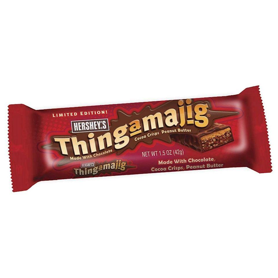 <p>As a limited-edition version of the Whatchamacallit, it had cocoa rice crisps and a strip of peanut butter as a layer, all covered in Hershey's decadent chocolate. Yum.</p>