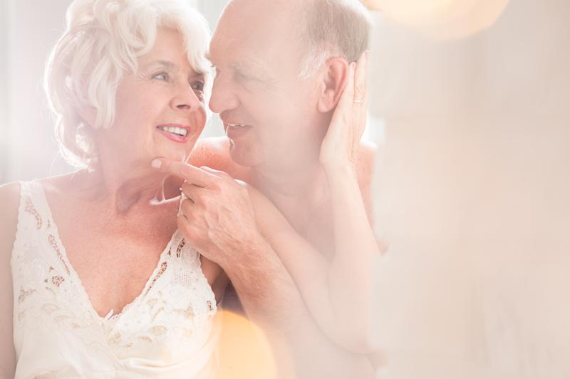 Shot of a senior couple looking at each other affectionately