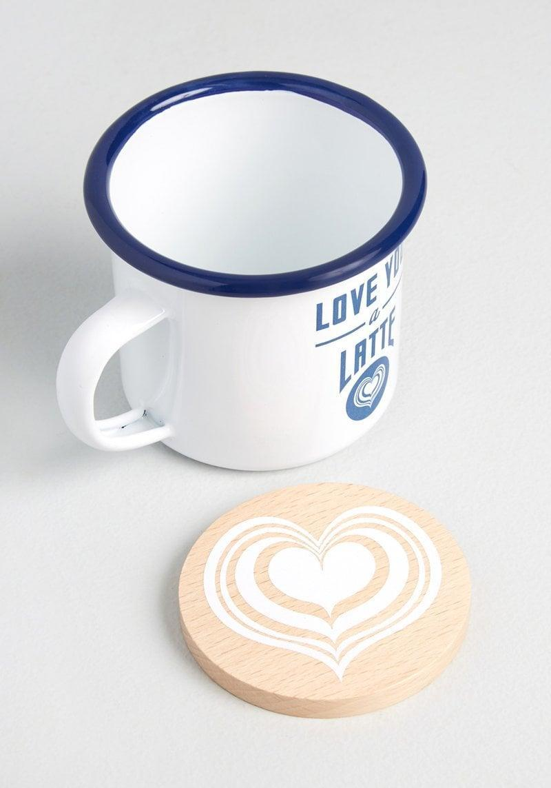 """<p>Your BFF will get a laugh out of this """"adorkable"""" <span>Love You a Latte Mug and Coaster Set</span> ($15, originally $22). From their morning brews to their evening teas, this is something they'll use often.</p>"""
