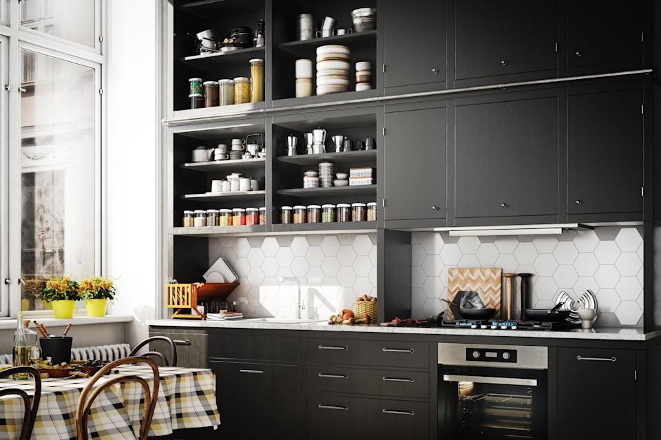 Black kitchens can have a Scandi vibe (Getty Images)