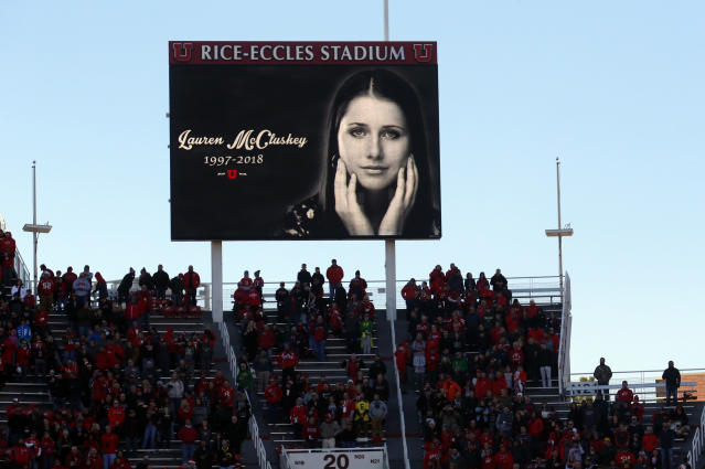 Lauren McCluskey, a University of Utah track athlete who was murdered in October, reportedly called both University and Salt Lake City police multiple times to report her harasser. (AP Photo/Rick Bowmer)