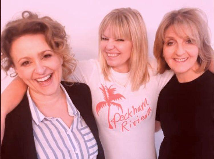 From left: Nadia Sawalha, Kate Thornton, and Kaye Adams on the latest episode of White Wine Question Time