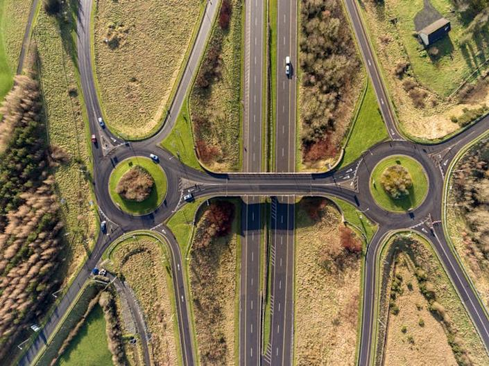 """<span class=""""caption"""">Big roads and construction projects in Ireland have unearthed a treasure trove of data for archeologists.</span> <span class=""""attribution""""><a class=""""link rapid-noclick-resp"""" href=""""https://www.shutterstock.com/image-photo/aerial-birds-eye-view-m7-motorway-1021610398?src=dc9EipyDJBhR_OFqzd6xdQ-1-1"""" rel=""""nofollow noopener"""" target=""""_blank"""" data-ylk=""""slk:Shutterupeira/Shutterstock"""">Shutterupeira/Shutterstock</a></span>"""