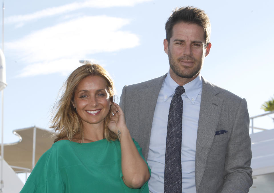 Jamie and Louise Redknapp pose during a photocall at the Cannes Lions 2015, International Advertising Festival in Cannes, southern France, Tuesday, June 23, 2015. Jamie is Sky Sports presenter and mail columnist and Louise columnist for mail online.The Cannes Lions International Advertising Festival is a world's meeting place for professionals in the communications industry.(AP Photo/Lionel Cironneau)