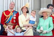 <p>On the balcony at Trooping the Colour in 2019, Charlotte proved she could wave enough for her whole family if needed. (Chris Jackson/Getty Images)</p>