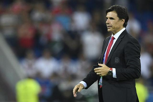 Wales' coach Chris Coleman reacts during their Euro 2016 semi-final football match against Portugal on July 6, 2016 (AFP Photo/MARTIN BUREAU)