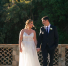 <p>Amy Schumer surprised fans on February 13 by sharing romantic snaps of her nuptials on Instagram after keeping the engagement secret. The actress opted for a spaghetti strap dress by Monique Lhuillier for her wedding to Chris Fischer and the wedding gown was the first one tried on. Talk about love at first sight… <em>[Photo: Instagram]</em> </p>