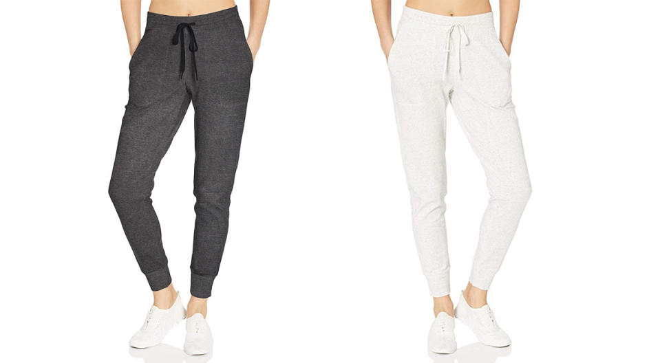 We promise you'll live in these Amazon Essentials Studio Terry Relaxed-Fit Joggers. (Photo: Amazon)