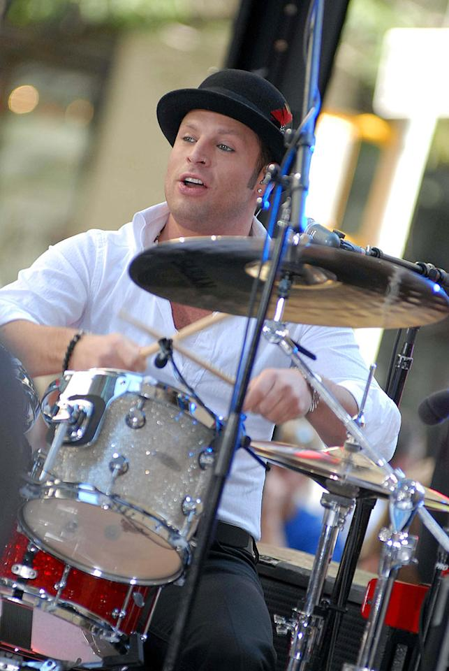 "Drummer Joey Barnes better be in good shape, because the band has tour dates lined up through the end of August. Will you be seeing Daughtry in your town? Derek Storm/<a href=""http://www.splashnewsonline.com"" target=""new"">Splash News</a> - July 14, 2009"
