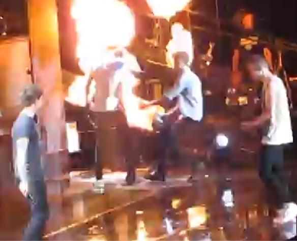 Zayn Malik Rescues Harry Styles From Burning Hair In Stage Fire During One Direction Tour (WATCH)